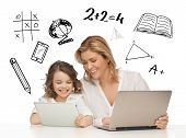 stock photo of  preteen girls  - education - JPG