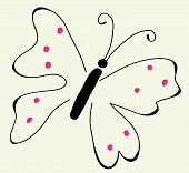 One Heading Is Very Beautiful Butterfly