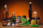 Herbs, Spices And Olive Oil