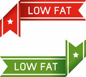 Low Fat Food Corner Label