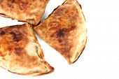 Pizza Calzones, isolated on white