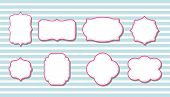 image of scallops  - cute retro vintage pink frames for scrapbook - JPG
