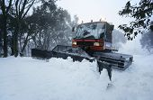 Snow clearing tractor Mt Baw Baw Victoria Australia