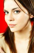 Brunette Model Portrait poster