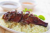 stock photo of roast duck  - Peking duck or Roasted duck - JPG