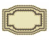 Vector doodle floral decorative frame
