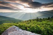 Southern Appalachian Blue Ridge Mountain Landscape Scenic