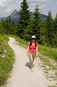 Female Hiker In The Austrian Alps
