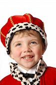 picture of prince charming  - laughing boy in costume - JPG