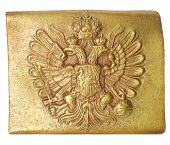 foto of sceptre  - Belt buckle of the Austrian soldier - JPG