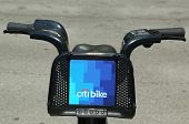 Citi bike in Lower Manhattan