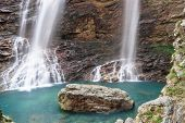 double waterfall,the famous landscape of lushan china.