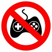 No gaming vector sign