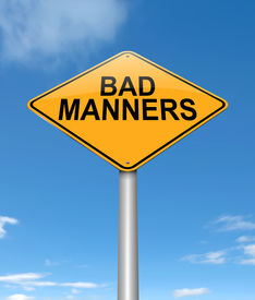 foto of indecent  - Illustration depicting a sign with a bad manners concept - JPG