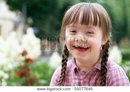 Portrait Of Beautiful Young Girl Smiling poster
