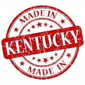 Made In Kentucky Red Round Grunge Isolated Stamp