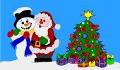 Santa Clause and Snowman