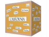 California State 3D Cube Corkboard Word Concept