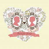 Vector Wedding Invitation Card