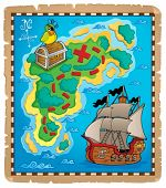 Treasure map topic image 5 - eps10 vector illustration.