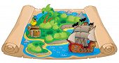 Treasure map topic image 6 - eps10 vector illustration.