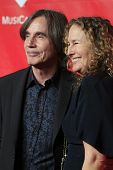 LOS ANGELES - JAN 24:  Jackson Browne, Dianna Cohen at the 2014 MusiCares Person of the Year Gala in