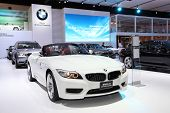 Bangkok - March 26: White Bmw Z4 On Display At The 34Th Bangkok International Motor Show On March 26