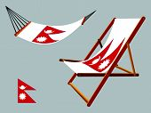 Nepal Hammock And Deck Chair Set