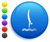 Diving Icon on Round Button Collection
