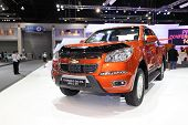 Nonthaburi - November 28:chevrolet Colorado X-cab 2.5 L 2Wd Car On Display At The 30Th Thailand Inte