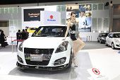 Nonthaburi - November 28: Suzuki Swift Sport Car With Unidentified Model On Display At The 30Th Thai