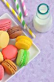 Macaroons With Jar Glasses