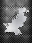 Pakistan Metal Map