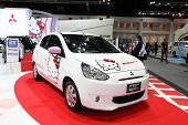Nonthaburi - November 28: Mitsubishi Mirage Meets Hello Kitty Car On Display At The 30Th Thailand In
