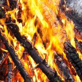 Постер, плакат: Пожар на зимний лес