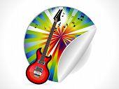 Abstract Guitar Sticker