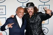 BEVERLY HILLS, CA. - JANUARY 25: Berry Gordy & son Red Foo arrive at the Clive Davis & The Recording
