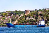 Blue freighter