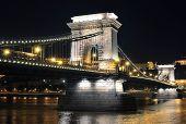 Danube River And Szechenyi Chain Bridge