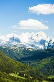 view to Dachstein from the west, Upper Austria-Styria, Austria