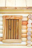 Door Of Wooden Log House