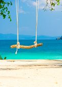 Relaxing in Pardise Seaside Swing