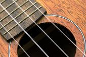 foto of ukulele  - A Close up Part of ukulele guitar - JPG