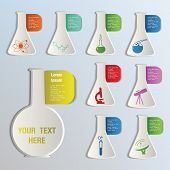 Science, chemical, medical theme icons