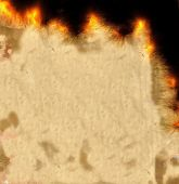 Burning Parchment Paper Background