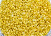 pic of eatables  - Close up of gold eatable sugar for for cakes decoration - JPG