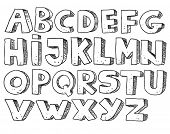 Alphabet sketchy version