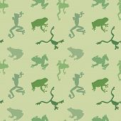 Seamless  Pattern Of Green Frog