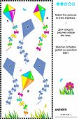 Match to shadow game - kites