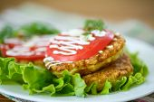 Zucchini Fritters With Tomatoes